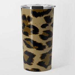 Leopard Print Pattern Travel Mug
