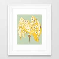 hedwig Framed Art Prints featuring Hedwig by Michi Makes Art