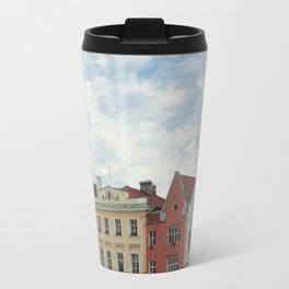 Pastel Houses Travel Mug