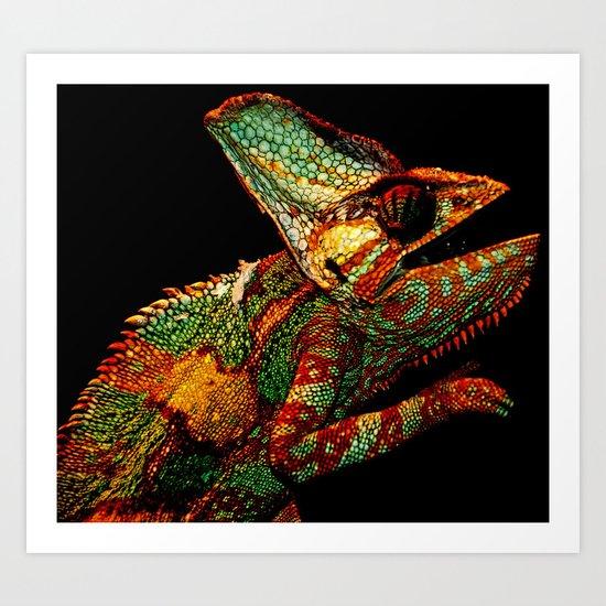 KARMA CHAMELEON Art Print