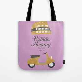 Roman Holiday, Audrey Hepburn,movie poster, Gregory Peck, William Wyler, romantic hollywood film Tote Bag