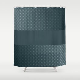 Blue mother of pearl Shower Curtain