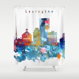 Lexington City Skyline Shower Curtain
