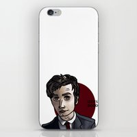 david tennant iPhone & iPod Skins featuring David Tennant by Izzy King