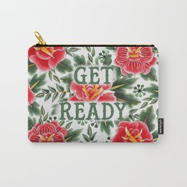 Get Ready - Vintage Floral Tattoo Collection Carry-All Pouch