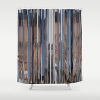 ed sheeran Shower Curtains featuring Ed London London by Milo Violet