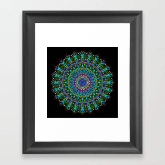 Snowflake #001 solid Framed Art Print