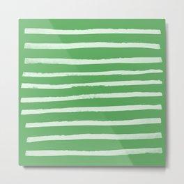 Simple Stripes - Fern Metal Print