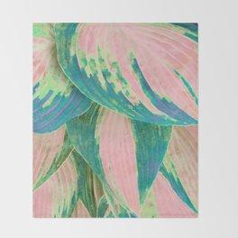 Hosta Multicolor Throw Blanket