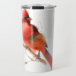 cardinal on the branch Travel Mug