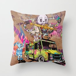Pusher Carcophagus Throw Pillow