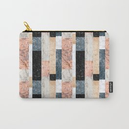 Marble Colorblock Stripes Carry-All Pouch