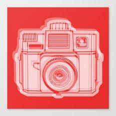 I Still Shoot Film Holga Logo - Reversed Red Canvas Print