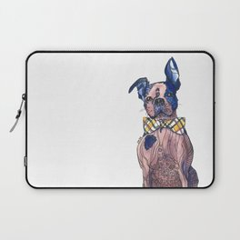 Bulldog in a bowtie, ink and watercolors Laptop Sleeve