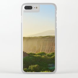 Beach Cliffs in the Clouds Clear iPhone Case