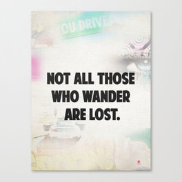 Travel quote awesome Canvas Print