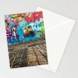 lenon wall graffiti in prague Stationery Cards