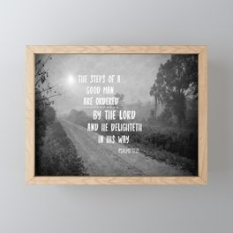 Steps of a Good Man Bible Verse Framed Mini Art Print