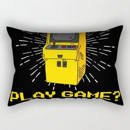 Play Game Insert Coins Game Over Arcade Rectangular Pillow