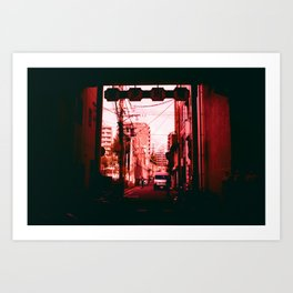 Out Towards a World in Red Art Print