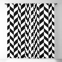 HERRINGBONE (BLACK & WHITE) Blackout Curtain