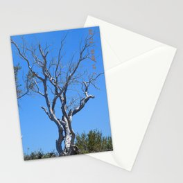 tree, naked, no bark, road trip,  Stationery Cards