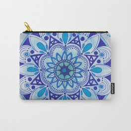 Simpe Blue Mandala Carry-All Pouch