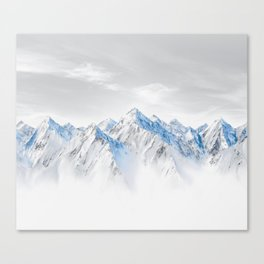 Snow Capped Mountains Canvas Print