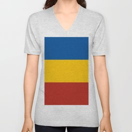 flag of rostov Unisex V-Neck