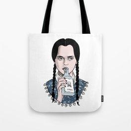 Stay creepy - Wednesday Addams illustration Tote Bag