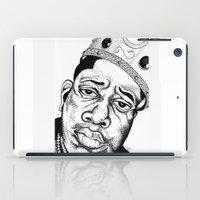 biggie smalls iPad Cases featuring Biggie Smalls Stippling by Tom Brodie-Browne