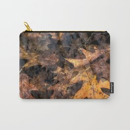 Leaves in a Rock Pool Square Carry-All Pouch