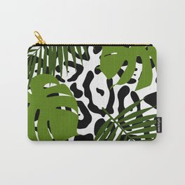 Leopard and palm leaves seamless pattern. Carry-All Pouch