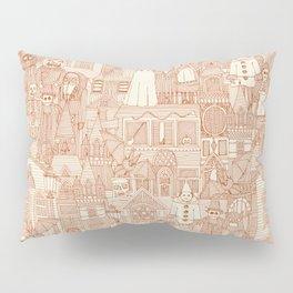 vintage halloween rust ivory Pillow Sham