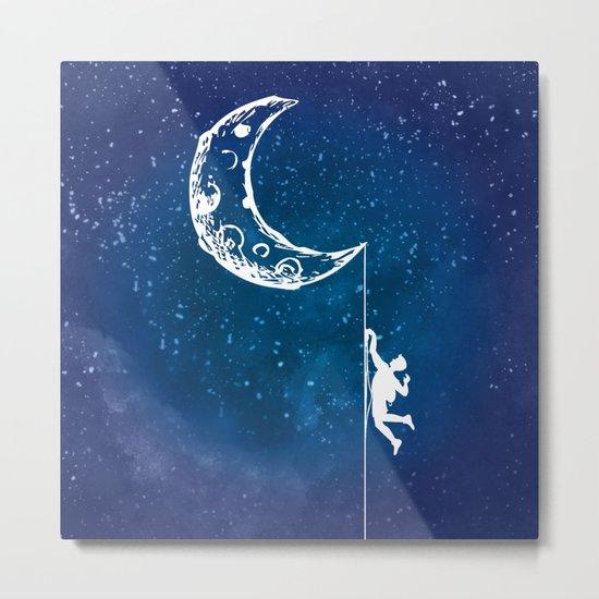 Moon Climbing Metal Print