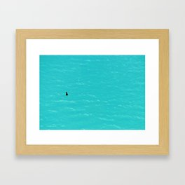 Duck on Water Framed Art Print