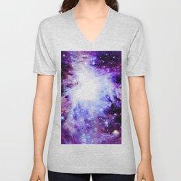 orion Nebula. Purple Magenta Violet Unisex V-Neck