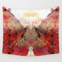 rorschach Wall Tapestries featuring Test de Rorschach VII by acefecoo