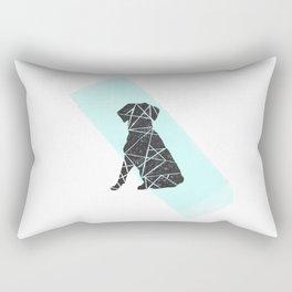 Geometic dog Rectangular Pillow