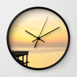 Sunset's in Belize Wall Clock