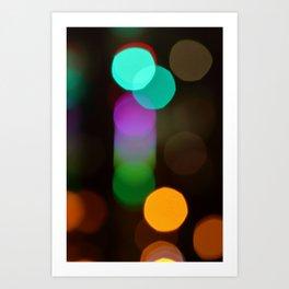 Liffey Lights (Bokeh Effect), River Liffey, Dublin Art Print