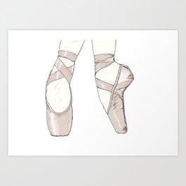 Ballet Pumps Art Print