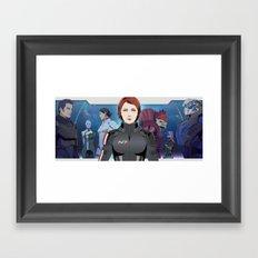 Mass Effect : SR-1 Squad Members Framed Art Print