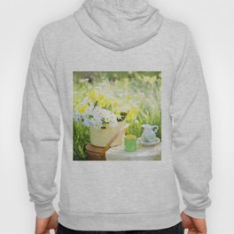 Romantic Daisy Flower Bouquet Hoody