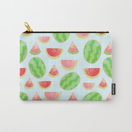 Juicy Watermelon Pattern with Gold Carry-All Pouch