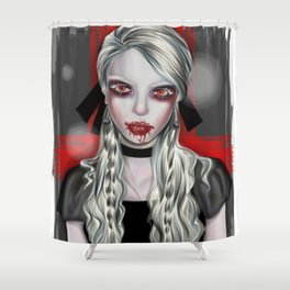 Vampire Portrait Shower Curtain