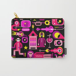 Festive City Vector Illustration Carry-All Pouch
