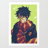 viria Art Prints featuring the boy who lived by viria