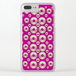 Going gold or metal on fern pop art Clear iPhone Case