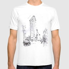 Chicago White Mens Fitted Tee MEDIUM